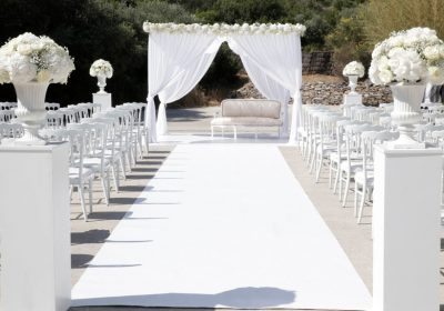 Blanco y decoración de boda